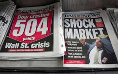 Global economic crash of 2008 caused by predatory lending practices of global banks, mortgage companies.