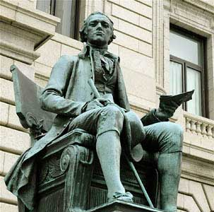 essay on the national debt robert hamilton The us treasury department was created in 1789 to help the country borrow money and manage the debt alexander hamilton was the first a national debt.