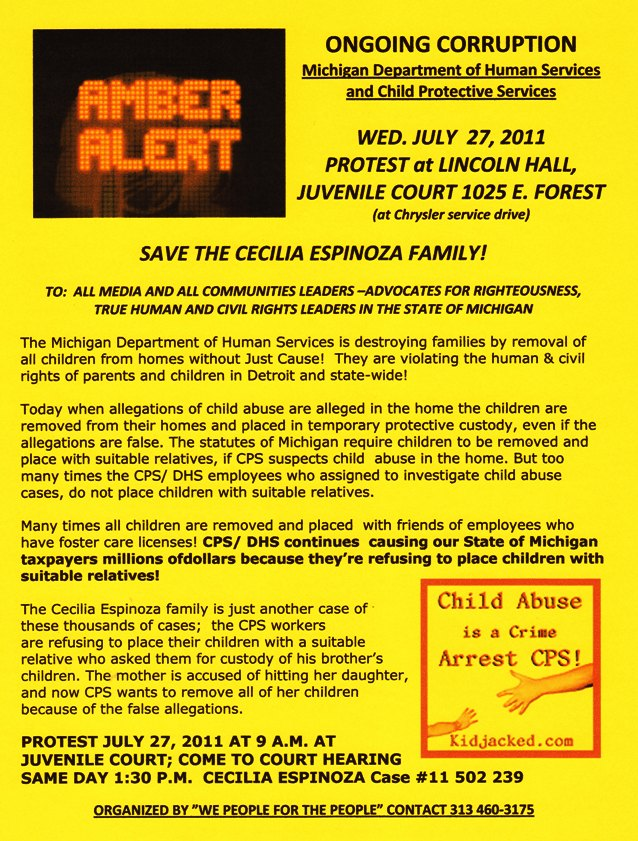 AMBER ALERT: SAVE ESPINOZA FAMILY FROM CPS | VOICE OF DETROIT: The