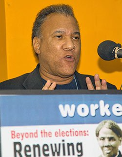 LarrY Holmes of Workers World Party.