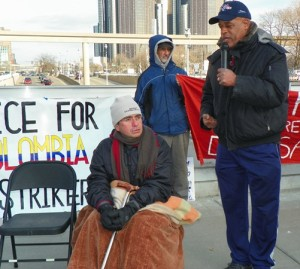 Former UAW Local 160 Pres.Norbin Thompson expresses solidarity with Colombian hunger strikers.