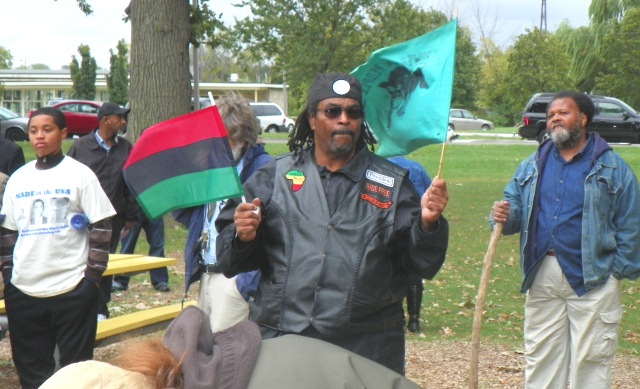 Rally to save Belle isle Sept. 22, 2012: BLACK POWER!!