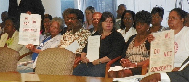 Detroiters including members of Free Detroit-No Consent Aug. 7, 2012, after PA4 was placed on ballot.