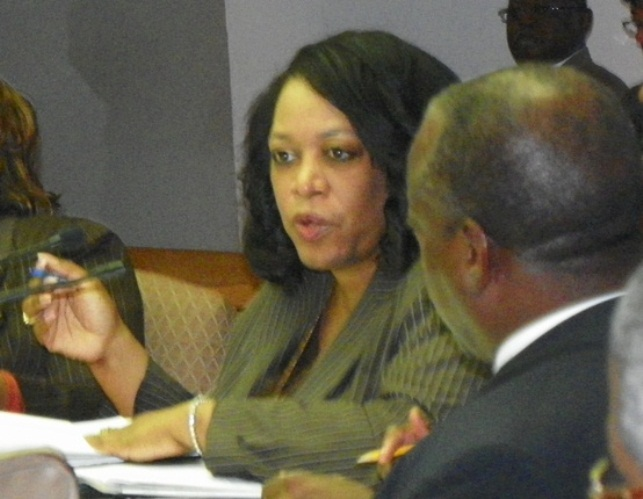 "Then Corporation Counsel Krystal Crittendon tells City Council Nov. 20, 2012 that she cannot ethically recommend they vote for a contract with the Miller-Canfield law firm and other portions of the ""Milestone Agreement"" because they represent stae ""extortion."""