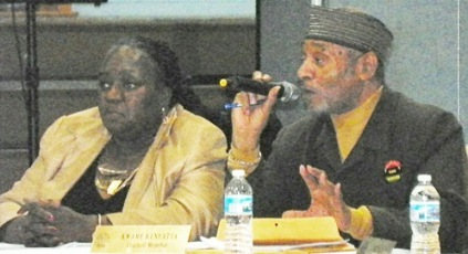 Council members JoAnn Watson and Kwame Kenyatta also strenously opposed the Hantz Farms land grab at public hearing Dec. 10, 2012.