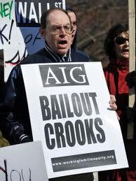 Protest against AIG bailout.