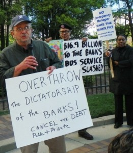 Demo against banks May 9, 2012.