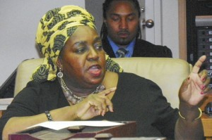 Councilwoman JoAnn Watson at hearing Jan. 28, 2013.
