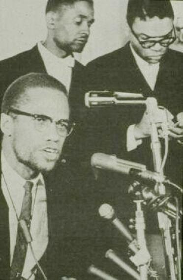 Malcolm X and Louis Farrakhan