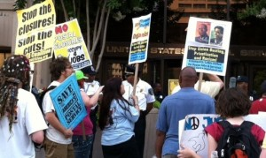 Postal workers' hunger strike June 29, 2012.