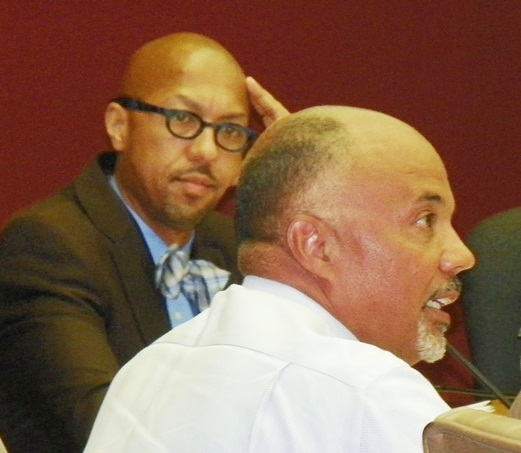 Councilmen Charles Pugh, Gary Brown