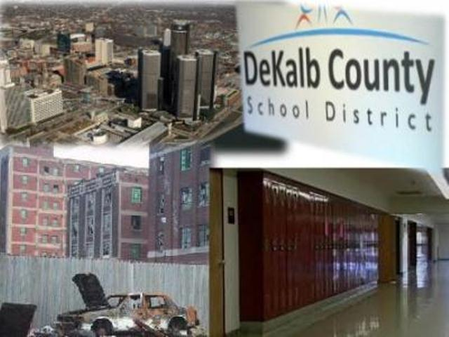 Detroit and DeKalb County Schools face takeovers by vampire capitalists.