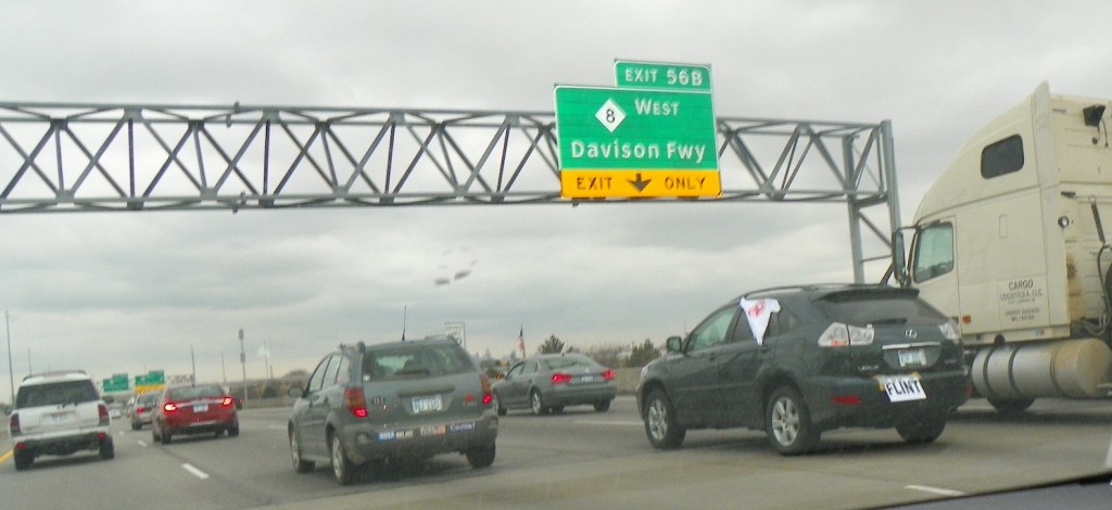 NO EFM blockade reaches Davison Freeway March 7, 2013,