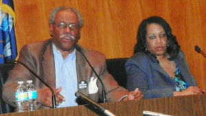 Mayoral candidates Tom Barrow and Krystal Crittendon joined forces at rally against EFM March 6, 2013.