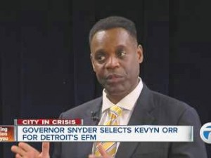 Kevyn Orr of Jones Day. The firm  has been tapped to be Detroit's re-structuring counsel, although it represemts the majority of the banks holding Detroit's debt