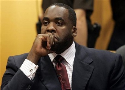 Former Detroit Mayor Kwame Kilpatrick in court.