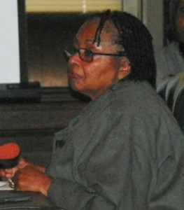 BOWC Detroit rep. Mary Blackmon at meeting March 13, 2013.