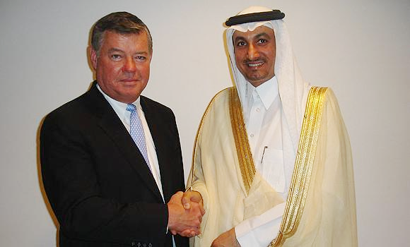 Jones Day Managing Partner Stephen Brogan in Saudia Arabia in 2012 to open another of its many offices in that kingdom.
