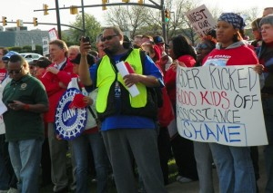 """Some UAW members participated in protest against Wisconsin Gov. Scott Walker when he came to Troy, MI, but protests have not stopped the devastation of Detroit, the poorest city in the country. It's time to """"disrupt commerce"""" as UAW workers did in the 1930's."""