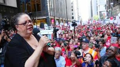 CTU Pres. Karen Lewis and Chicago teachers have led a massive strike, and are in the forefront of current school closings protests there.