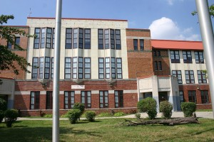 Chadsey High School before its demolition.