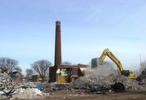 Chadsey during demolition, which left site contaminated with dangerous chemicals including asbestos and lead.