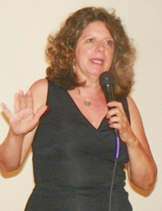 Elena Herrada speaks at forum against EAA Aug. 2, 2012