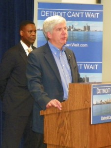 Michigan Gov. Rick Snyder announces appointment of Kevyn Orr as Detroit EM March 14, 2013.