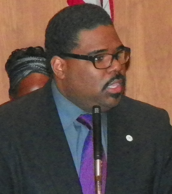 Rev. Charles Williams II, representing Michigan chapter of National Action Network.