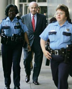 Enron's CEO Kenneth Lay during trial.