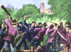 Painting of Koreas fighting U.S. invasion in 1871.