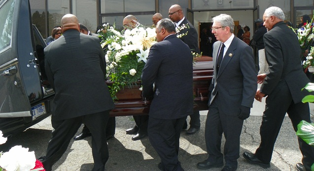 Pallbearers included many Local 312 members and officers.