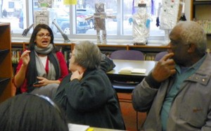 State Rep. Rashida Tlaib explains her bill that would require remediation of grounds before new school construction,.