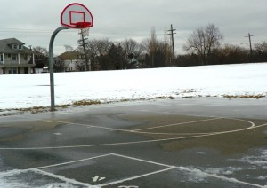 Ice was on Munger basketball court as well. Sheila Crowell and VOD saw children playing there last fall.