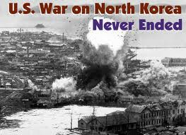 U.S. bombs Korean city 1950.