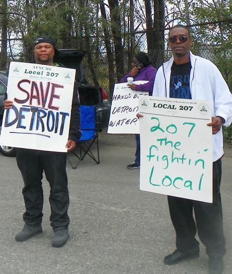 Detroit Wastewater Treatment Plant workers on strike Sept. 30, 2012