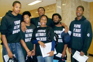 Young Detroit Buliders at CDBG hearing in 2010. Their CDBG funds were later eliminated; more groups stand to lose under EM.