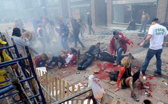 Scene of carnage at Boston bombing/AP photo
