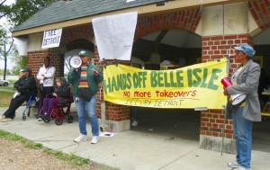 AFSCME Local 542 Pres. Phyllis McMillon speaks at rally to save Belle Isle Sept. 2012.