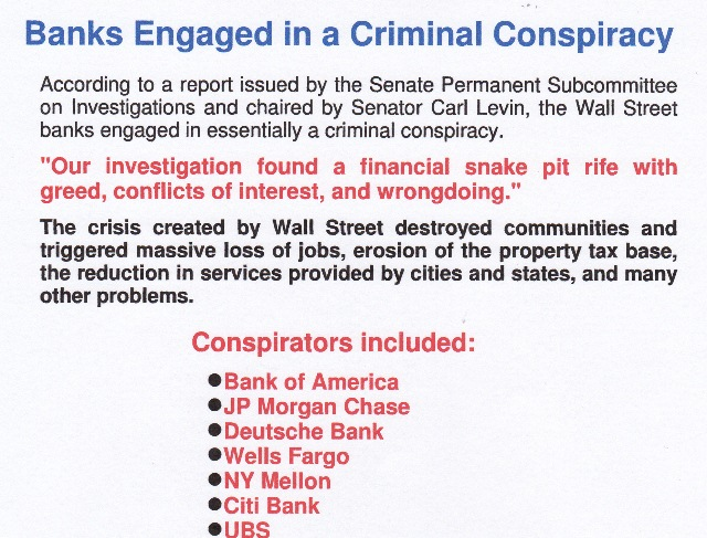 Banks criminal conspiracy