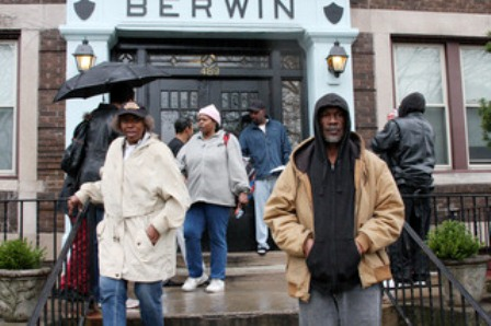 Residents of Berwin Apartments in Detroit's Cass Corridor, evicted by mystery buyer who may be Dan Gilbert.