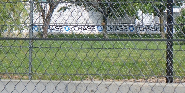 Chase Bank, which counts itself among many of the City of Detroit's creditors, and has also been responsible for thousands of foreclosures in the metro area and nationally.