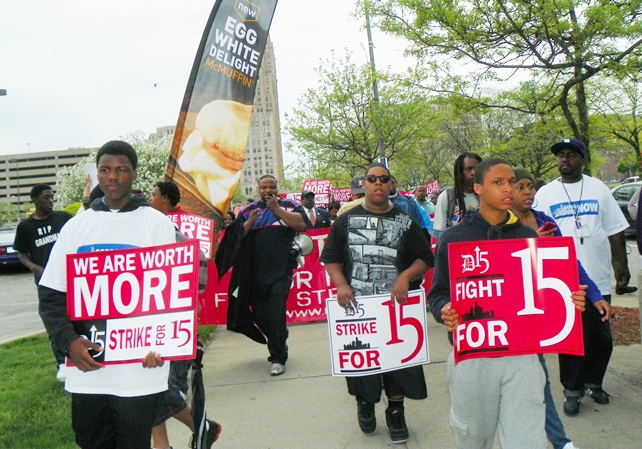 Youth from local high schools joined the march, knowing their futures are also at stake.