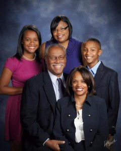 Mayoral candidate Tom Barrow and family.