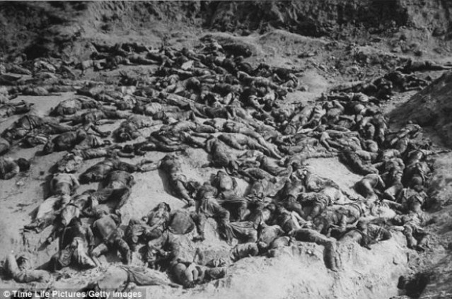 Mass grave of Koreans slaughtered in 1945 by U.S.-imposed government.