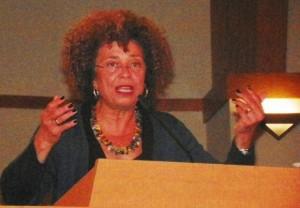 Angela Davis speaks in Detroit at rally Monica Lewis-Patrick helped to organize.