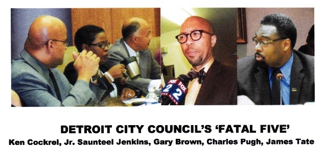 Detroit City Council members who voted for the Consent Agreement April 4, 2012, on the anniversary of Dr. Martin Luther King, Jr.'s assassination.
