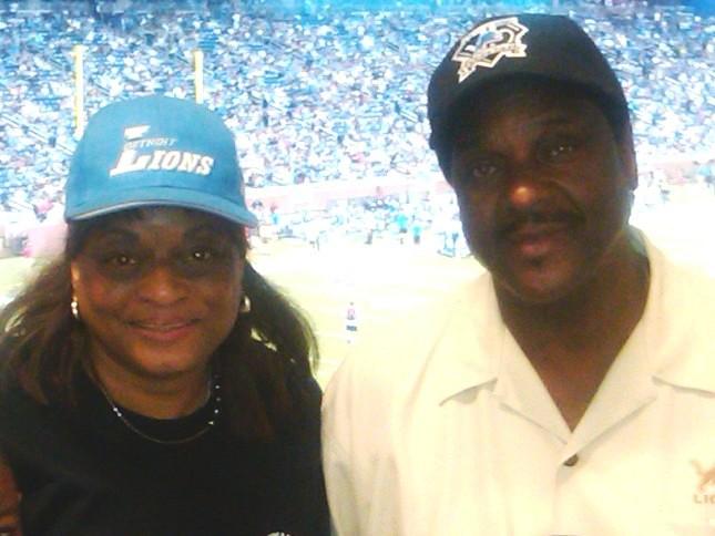 Judge Cynthia Gray Hathaway with her husband, Wayne Co. Deputy Sheriff Dewayne Hayes,