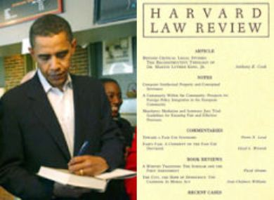 Barack Obama was president of the Harvard Law Review as a student.