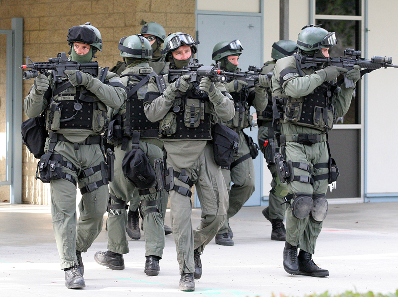 Typical SWAT team.